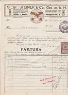 Autriche Facture Illustrée Aigle 15/11/1915 Siegf. STEINER Uniformierungs Kappen WIEN - Cachet Kriegs Fürsorgeamt - Autriche