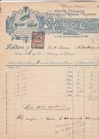 Autriche Facture Illustrée 28/8/1913 RICHTER  Herren Und Kinder Kappen WIEN - Chapeaux Bérets Képis - Autriche