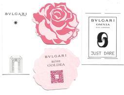 BULGARI 3 Nouvelles Cartes - Cartes Parfumées
