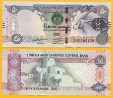 United Arab Emirates 50 Dirhams P-29 2016 UNC - Emirats Arabes Unis