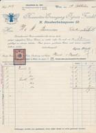 Autriche Facture Illustrée Papillon 19/10/1911 Krawatten Erzeugung IGNAZ FRÄNKL WIEN Cravates - Autriche