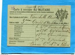 """GUERRE 14-18- Marcophilie-  Carte  F M """" Gloire à Nos Alliés"""" - 3 Drapeaux  Fond Vert - Cad Nov 1914- - Postmark Collection (Covers)"""