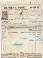 Autriche Facture Illustrée Grenouille 29/5/1916 WERNER & MERZ Wachs Produkte  WIEN - Autriche