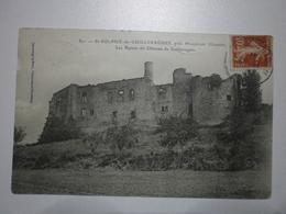 33 Saint Sulpice De Guilleragues, Ruines Du Chateau (7908) - Autres Communes