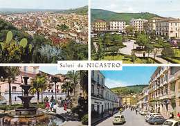 CATANZARO - Lamezia Terme - Saluti Da Nicastro - 4 Vedute - Auto Fiat 600 - 1965 - Lamezia Terme