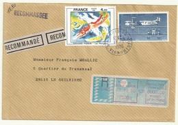THEME AVIATION  FARMAN F60  GOLIATH  SUR LETTRE REC + AFFRANCHISSEMENT COMPLEMENTAIRE - 1960-.... Lettres & Documents