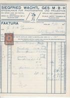 Autriche Facture Illustrée 4/11/1915 SIEGFRIED WACHTL Photographie Et Projection WIEN - Autriche