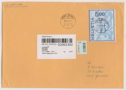 SUISSE 2000: Timbre Spécial 'Broderie De St Gall',  Sur 'lettre Signature' - Gebraucht