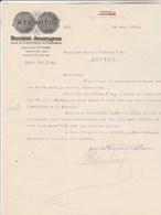 Autriche Facture Lettre Illustrée  18/4/1924 ATLANTIS Société Anonyme Pour Commerce & Industrie VIENNE - Autriche