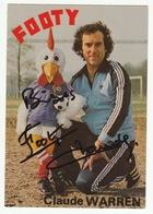 Claude WARREN, Ventriloque Avec FOOTY, Mascotte Coupe Du Monde De Football 1978 - Dédicacée - Artistes
