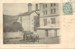 Dpts Div.-ref-AF894- Vosges - Xertigny - Sortie Des Ouvriers De La Brasserie - Brasseries - Biere - Alcool - Industrie - Xertigny