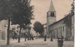 COURS   GRANDE RUE  ET PLACE DE LA MAIRIE - Cours-la-Ville