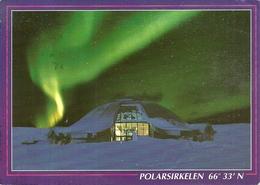 Norge (Norvegia) Nordlys Over Polarsirkelsenteret, Northern Lights Above The Artic Circle Center - Norvegia