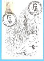 Carte-Souvenir-Rocher Du Roi Albert-Marche-les-Dames-1934-1984-Hérisson Philatelic Club-Jambes-Timbre COB 2118-11-2-1984 - Herdenkingskaarten