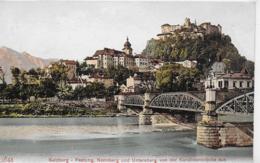 AK 0142  Salzburg - Festung , Nonnberg Und Untersberg Von Der Karolinenbrücke Aus Ca. Um 1910 - Salzburg Stadt