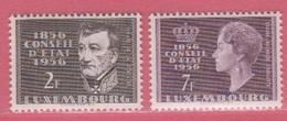 1956 ** (sans Charn., MNH, Postfrisch)  Yv  518/9Mi  559/60 - Luxembourg