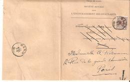 IMPRIME De GAND TP. N° 44 De 1892 (Sté Royale Des B.A.) V/GAND Réexp. à PARIS + TAXE R. - 1869-1888 Lion Couché (Liegender Löwe)