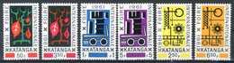 KATANGA 1961** - Foire Internationale Elisabethville - 6 Val. MNH. - Katanga