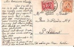 CP. De BRUGES TP. 108 - TTx. N° 13StLAURENS/St.LAURENT Du 16/II/19 - Portomarken