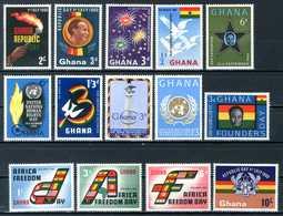 GHANA 1960** - Lotto Di 14 Val. MNH Come Da Scansione - Ghana (1957-...)