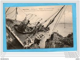 SAINT MALO-Naufrage Du Hilda Nov 1905--la Passerelle Où Furent Retrouvés 6 Survivants-carte D'origine - Catastrophes