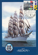 D35802 CARTE MAXIMUM CARD TRIPLE FD 2000 NETHERLANDS - SEDOV RUSSIA TALL SHIP SAIL AMSTERDAM CP ORIGINAL - Maritime