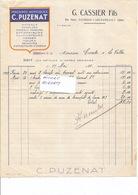 AGRICULTURE Machines Agricoles PUZENAT - Ets CASSIER à BOURBON L'ARCHAMBAULT  03 - Facture De 1929 - 1150119 - Agriculture