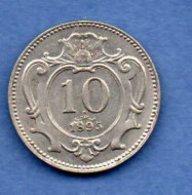 Autriche  -  10 Heller 1895 --  Km # 2802  -  état  TTB - Autriche