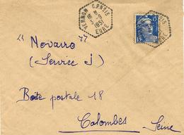 1951- Enveloppe RECC.  De VERNON C.P. N° 13 / EURE  ( C P Identifié Au Dos : Cautiers ) - Storia Postale