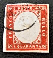 ROYAUME 1855 - OBLITERE - YT 13 - Sardaigne