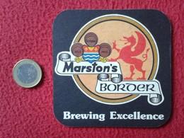 POSAVASOS COASTER MAT O SIMIL CERVEZA ? BEER ? BIER ? LA BIÈRE ? CERVEJA ? MARSTON'S BORDER PEDIGREE BURTON BITTER LAGER - Portavasos