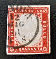 ROYAUME 1855 - OBLITERE - YT 13 - BELLE OBLITERATION - Sardaigne