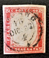 ROYAUME 1855 - OBLITERE - YT 13 - BELLE OBLITERATION - Sardinia