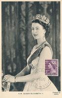 D35810 CARTE MAXIMUM CARD 1953 AUSTRALIA - QUEEN ELIZABETH CP ORIGINAL - Familles Royales