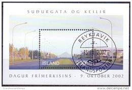 IJsland 2002 Blok Dag Van De Postzegel GB-USED. - 1944-... Republique