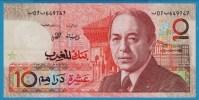 MAROC 10 Dirhams 1987 P# 60a  Roi Hassan II - Maroc