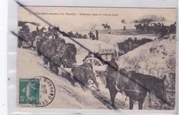 Militaria: Artillerie Montée Et Les Obstacles - Demie-tour Dans Un Chemin étroit (posté à Mourmelon Le Grand (51) - Manoeuvres