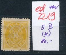 Island Nr.   5 B (*)     (ed2219 ) Siehe Scan - Ungebraucht