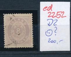 Island Nr.   D 2     (ed2252 ) Siehe Scan - Dienstpost