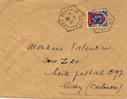 1947- Enveloppe De BENAGLE ( Constantine)  Agence Postale Hexag. Pointillé -affr. à 4,50 F - Brieven En Documenten