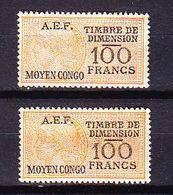 TIMBRE FISCAL FISCAUX COLONIE FRANÇAISE DIMENSION AEF AFRIQUE ÉQUATORIALE MOYEN CONGO - A.E.F. (1936-1958)