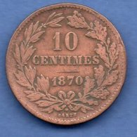 Luxembourg  -  10 Centimes 1870 --  Km # 23.1  -  état TB - Luxembourg
