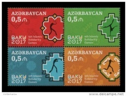 Azerbaïjan 2017 Mih. 1196/99 Islamic Solidarity Games. Football. Tennis. Boxing. Gymnastics MNH ** - Azerbaïdjan