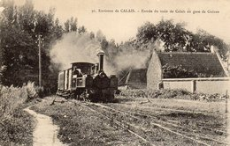 62 GUINES Environ De Calais TRAIN DE CALAIS EN GARE - Guines
