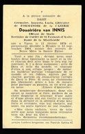 ADEL NOBLESSE -  GERMAINE DE FORMANOIR DE LA CAZERNE DOUAIRIERE VAN INNIS - IEPER 1879  BRUGGE 1964 - Décès