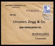 A5810) Curacao Netherlands Ship Cover 21.08.22 To Maracaibo / Venezuela - Curaçao, Antilles Neérlandaises, Aruba