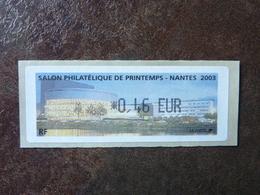 2003 LISA1 Salon Philatélique De Printemps Nantes 0,46€  ** MNH - 1999-2009 Vignettes Illustrées