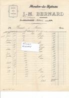 AGRICULTURE - MOULIN De RATEAU - Ets BERNARD Minotiers  à AGONGES/St MENOUX 03 - Facture De 1925 - 1170119 - Agriculture
