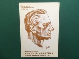 Cartolina Onoriamo Gli Eroi Italiani D'Africa- Maggiore Pilota  - 1967ca. - Cartoline