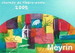 2005 HELVETIA SUISSE ENTIER POSTAL - JOURNÉE DU TIMBRE-POSTE MEYRIN - CITÉ DES 5 CONTINENTS - Día Del Sello